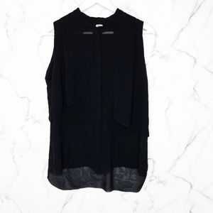 Wilfred Silk Sleeveless Layered Button Down Top